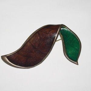 Vintage unique large brooch